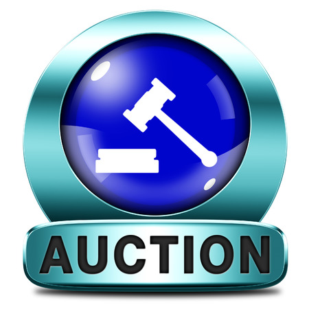 online auction: Auction sign online sale bidding and buying real estate cars and houses