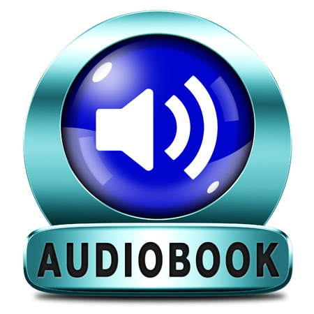 audio book: audiobook icon or sign listen online or buy and download audio book button