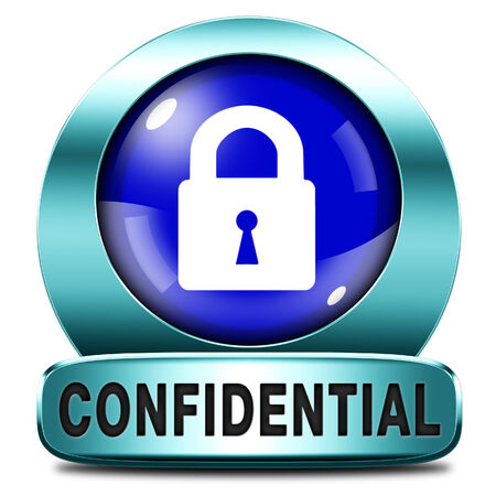confidential top secret classified information red label icon or stamp photo