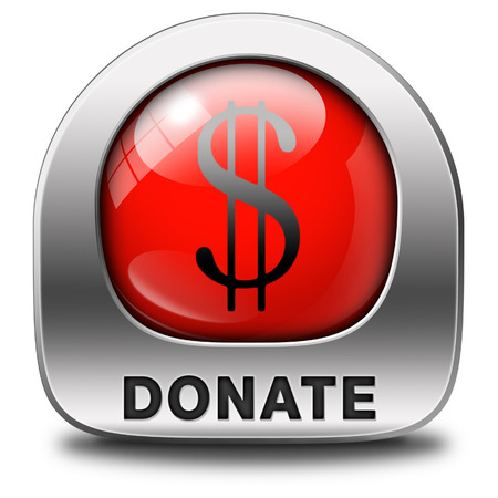 give money: donate icon and give to charity help fund raising give and raise money donation Stock Photo
