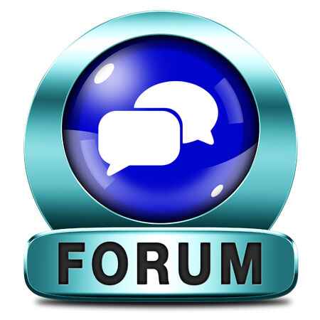 logon: forum internet icon or button website www logon login and subscribe to participate in discussion  Stock Photo