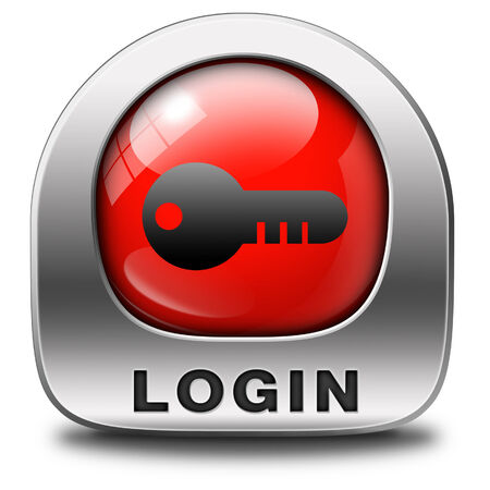 login icon or user or member log in button website banner