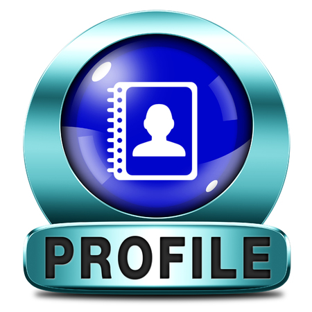 personal profile: Profile personal information and bio icon or button your avatar