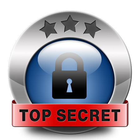 private information: top secret icon confidential and classified information private property or information sign or button