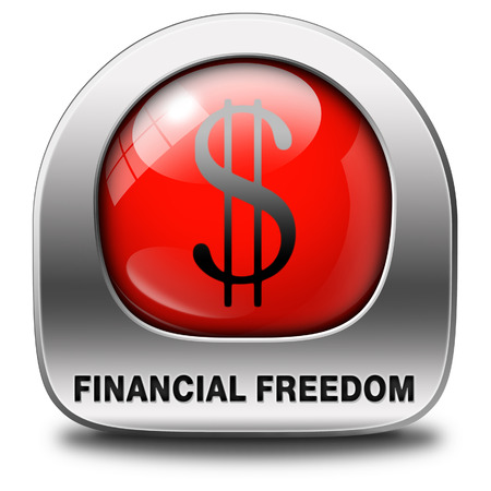 financial freedom and economic independence, self sufficient icon.  photo