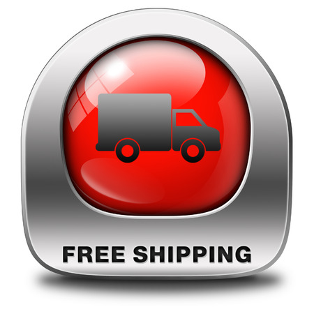 webshop: free shipping and package delivery from online internet web shop order, webshop icon or button