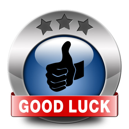 best wishes: good luck icon or fortune button, best wishes wish you the best of luck