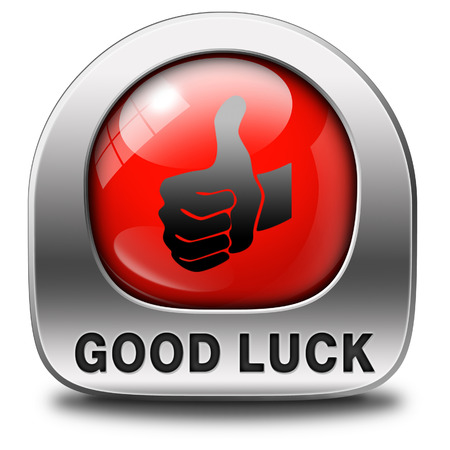 good wishes: good luck icon or fortune button, best wishes wish you the best of luck