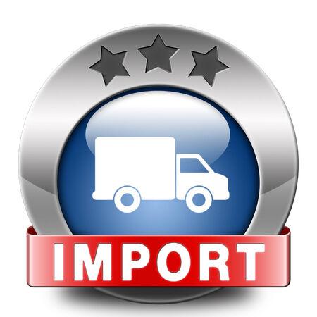 importation: import icon international and worldwide or global trade on world economy market. importation and exportation