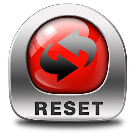 reset icon start again or refresh button refresh or redo sign stock