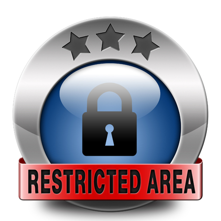 vip area: restricted area members only access key icon password protected Stock Photo