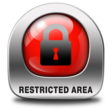 restricted area members only access key icon password protected Stock Photo