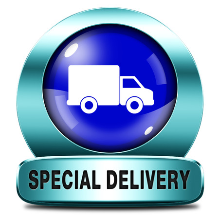 webshop: special delivery shipping web shop package online internet order from webshop icon or button
