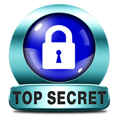 classified: top secret icon confidential and classified information private property or information sign or button
