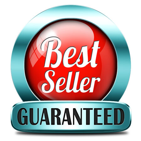 Bestseller label most popular sign popularity label or sticker for best seller or market leader and top product or rating in the charts photo