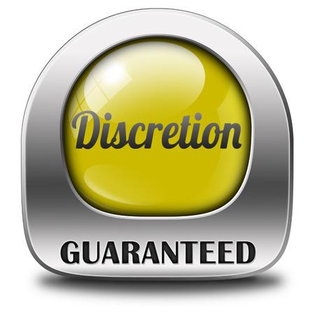 discreto: discreci�n garantizada secreto tep y confidencial la informaci�n personal icono o bot�n discreto