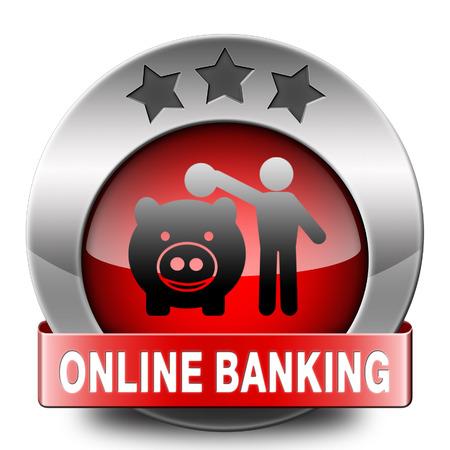 bankkonto: Online-Banking-Einzahlung im Internet Bankkonto Symbol oder die Taste Lizenzfreie Bilder