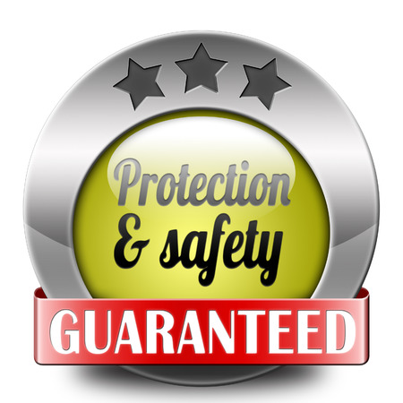 protection and safety first label or sign protect data privacy and personal info security guaranteed Stock Photo - 25757984