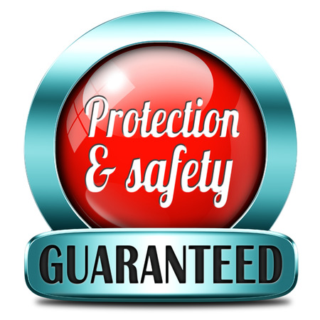 protection and safety first label or sign protect data privacy and personal info security guaranteed Stock Photo - 25757985