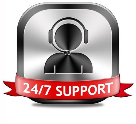 service desk: support desk icon or 247 help desk button technical assitance and customer service Stock Photo