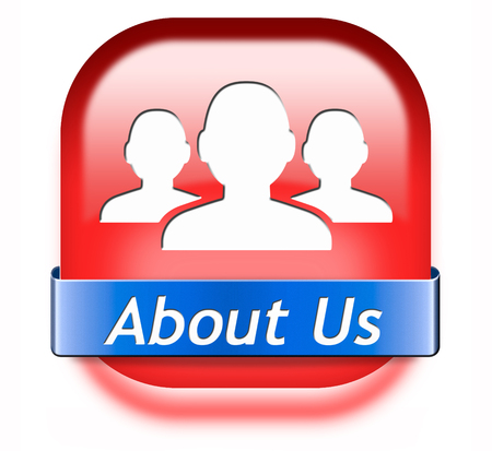 About us button our business or working team members icon Stock Photo - 26249305