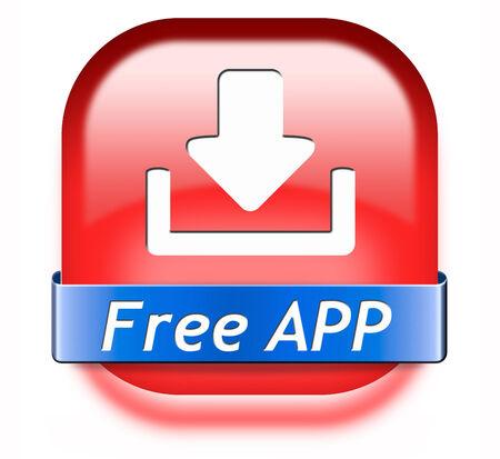 gratis: Free app button or gratis apps icon download sign or label