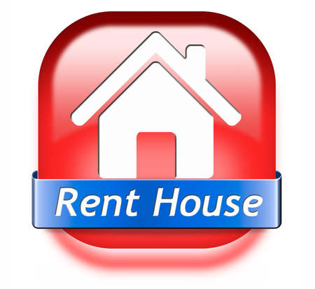 house for rent sign, renting a flat, room apartment or other real estate sign. Home to let icon.  photo