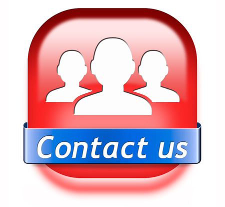 contact us button for feedback. Coordinates and address for customer support and extra information photo