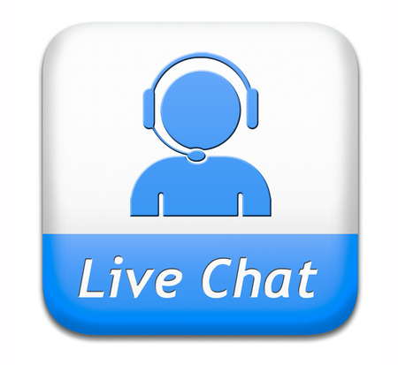 LIVE CHAT icon. Chatten online toets. Stockfoto