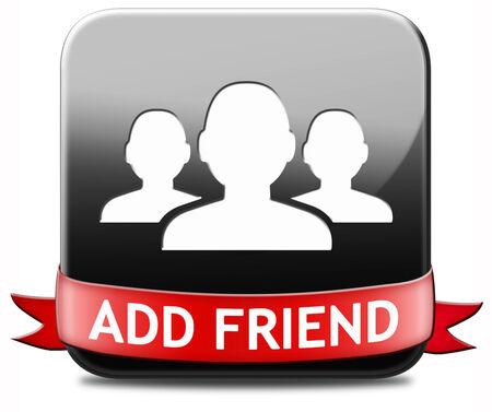 add as friend: Add friend button join online community virtual friends through networking