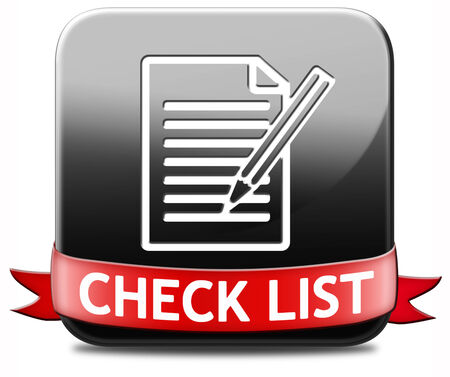 Check list button validation evaluate and review Stock Photo - 26322610