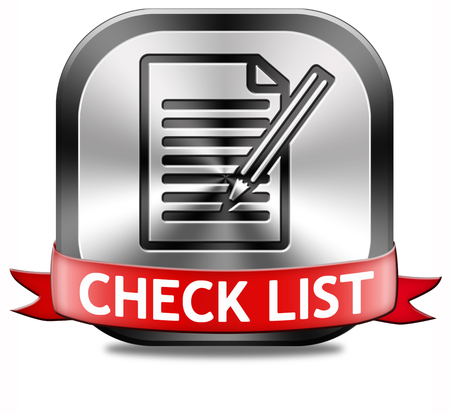 Check list button validation evaluate and review Stock Photo - 26322611
