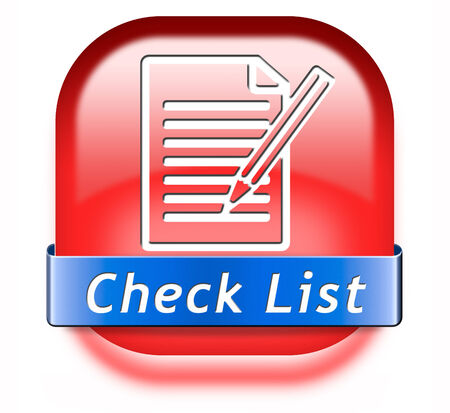 Check list button validation evaluate and review photo