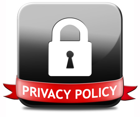 privacy policy terms of use for data and personal information protection. Safety icon label or sign.  photo