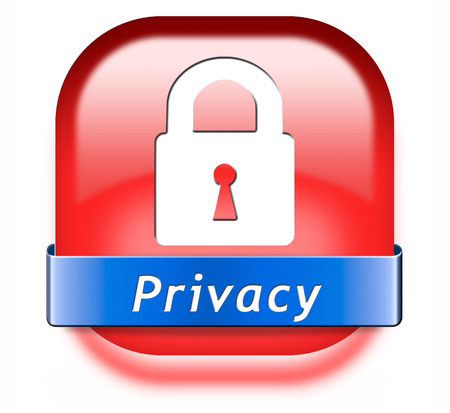 private information: privacy private area protection of personal online data or confidential information, password protected info button or sign