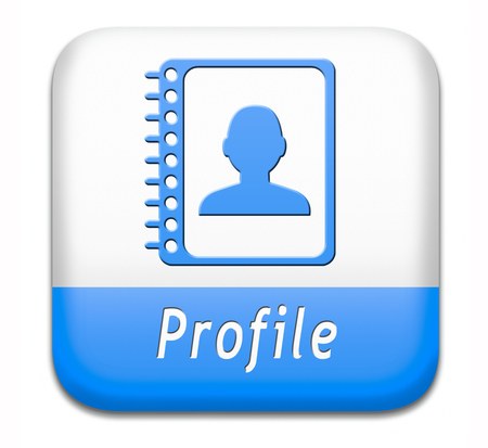 personal profile: Profile personal account information and bio icon or button your avatar