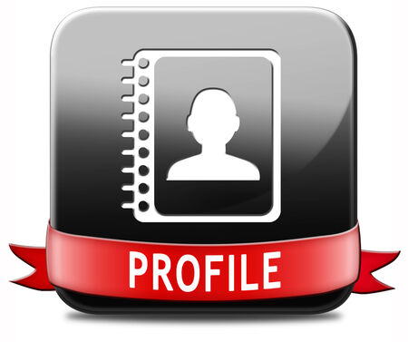 biography: Profile personal account information and bio icon or button your avatar