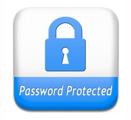 Beveiligd met een wachtwoord bescherming van gegevens door het gebruik van sterke en veilige wachtwoorden en verandering voor de beveiliging en veiligheid knop