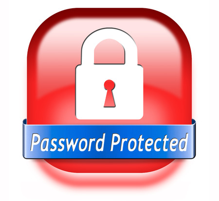 recover: Password protected data protection by using strong safe passwords recover and change for security and safety button Stock Photo