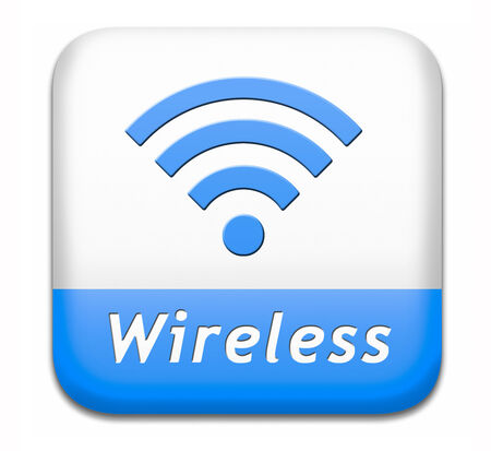 wifi access: wireless wifi access area and free internet access icon or button