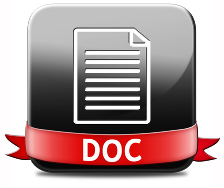 doc button pdf file download or document  photo