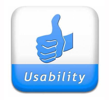 user friendly: usability user friendly design and ergonomic internet or website
