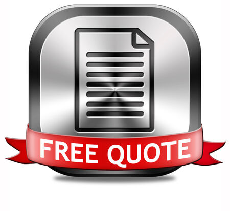 Get a free quote button or icon photo