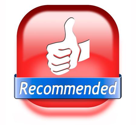 recommandé qualité supérieure critique de produit de recommandation pour le meilleur choix, Banque d'images