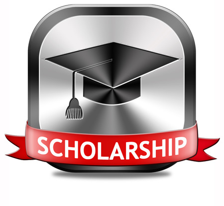 scholarship: scholarship or grant for university or college education study funding application for school funds Stock Photo