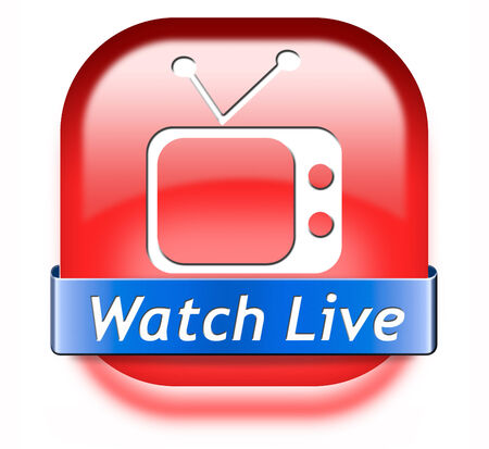 live stream tv: Watch live stream TV, video film or streaming movie  Stock Photo