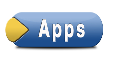 mobile app: Apps download mobile app for free button or icon Stock Photo
