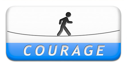 courage and bravery the ability to confront fear pain danger uncertainty and intimidation fearless button or icon photo