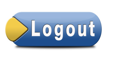 log out: log out button or user or member log out banner