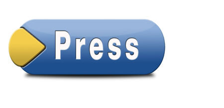 press release wtih breaking hot and latest news items button or icon Reklamní fotografie